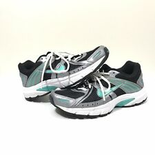 Nike Air Downshifter 3 Running Shoes Womens 8 US Black Silver Mint 415361-001