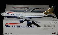 """AEROCLASSICS / CRAFTSMAN 400 1/400 B747-200 BRITISH AIRWAYS """" INDIA """""""