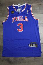 91fd46abd8586b Allen Iverson #3 NBA Philadelphia Phila 76ers Blue Throwback Swingman  Jersey New