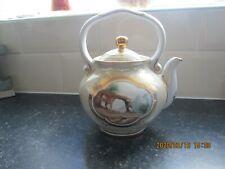 Russian Porcelain Hand Painted Handled Teapot Kettle