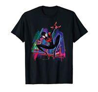 Spider-Man Miles Morales Graffiti City T-Shirt Funny Cotton Tee Gift Men