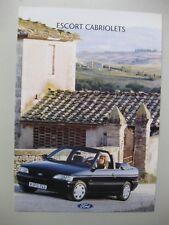 Ford Escort Cabrio Cabriolet brochure Prospekt German text Deutsch 8 pages 1991