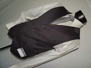 NWT English Laundry Men's Gray stripe dress vest waistcoat size Small - 36 Short