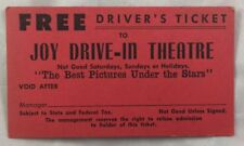Antique Joy Drive In Movie Film Theatre Ticket Waco Texas