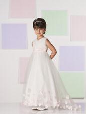 Flower Girl & Communion Dresses Joan Calebrese 111360--Color White--Size 6