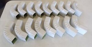 """3"""" x 2-1/4"""" DOWNSPOUT ELBOW FOR GUTTERS, ALUMINIUM 75° ANGLE, OAL 8"""" LOT OF 17"""