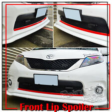 PAINTED PUF FRONT LIP SPORT SPOILER WING FOR 11-18 TOYOTA SIENNA LE SE