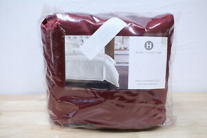 Hotel Collection KING Duvet Cover Luxe Border Solid Embellished RED A0Z102