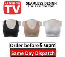 Women Seamless Sports Bra Wire Free Comfort Support Gym Workout Yoga Top 3 Pack