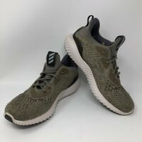 Adidas Womens Alphabounce EM Running Shoes Green BW1191 Low Top Lace Up 6.5 M