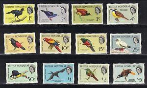 BRITISH HONDURAS 1962 BIRDS SET COMPLETE MINT TO S.G. 20-212 LIGHT HINGED