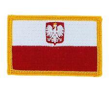 Parche bandera PATCH POLONIA CON AGUILA 7x4,5cm bordado termoadhesivo nuevo