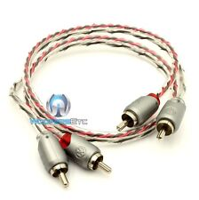 MEMPHIS ETP-1.5 1.5 FEET 2 CHANNEL TWISTED AUDIO RCA JACK AMPLIFIER CABLE WIRE