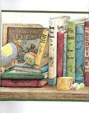 NURSERY BOOKS AND TOYS ON SHELF WALLPAPER  BORDER GB90322B