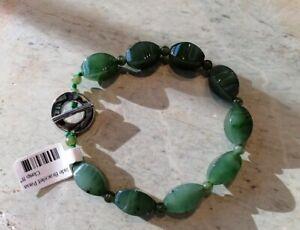 New natural NZ Paua shell / jade bracelet