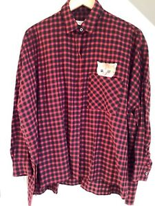 Ladies Paul & Joe Sister red and black check shirt, cat in pocket, size 1, New