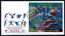100 Jahre Olympische Spiele der Neuzeit. FDC. Block. UNO Wien 1996