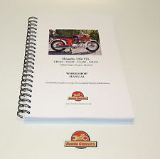 HONDA CD125 SS125 cl125 CD175 sloper Taller Manual de libro. repro. hwm053