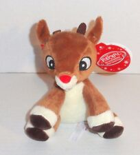 New Rudolph the Red Nosed Reindeer Plush Baby Rattle Activity Toy P69