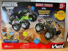 K'NEX Monster Jam Grave Digger vs. Maximum Destruction Building Set 108 pcs New