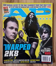 ALT PRESS MAGAZINE - Warped 2K8 Issue # 241.5 Delonge Blink-182 AVA Punk Rock
