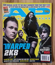 Alternative Press Magazine - Warped 2K8 Issue # 241.5 Delonge Blink 182 Ava Rock