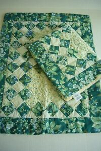 2 LAURA ASHLEY BRAMBLE BERRY QUILTED PILLOW SHAMS