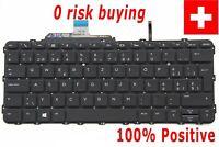 For HP EliteBook Folio G1 Keyboard Swiss German Tastatur Backlit Read Carefully