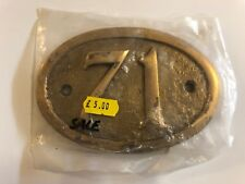 Brass house sign Number: 71 145x100mm