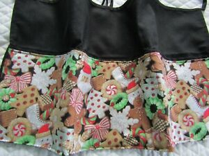 Christmas Cookies Glitter Server Waitress Apron Teacher Name FREE Lady Pizazz