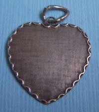 sterling charm Vintage heart