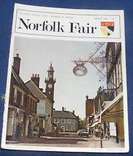 NORFOLK FAIR MAGAZINE JANUARY 1976 - CROMER PIER/THE GURNEYS AND THEIR BANK