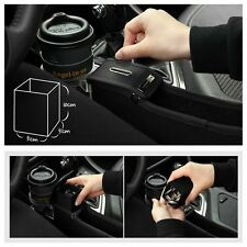 2pcs Black PU Leather Car Catcher Storage Box for Driver Side and Passenger Side