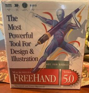 Macromedia Freehand 5.0 for Macintosh- Sealed!!