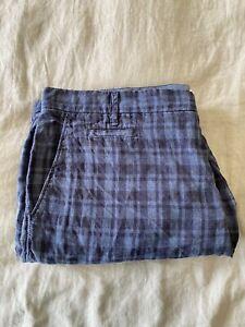 COUNTRY ROAD Men's Size 40 Blue Linen Shorts Natural Fibre