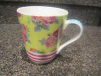 MATILDA JANE STRIPES AND ROSES COFFEE TEA CUP / MUG
