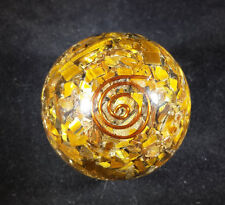 MEDIUM (40-50mm) TIGER EYE ORGONE GEMSTONE SPHERE ORGONITE SPHERE