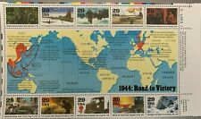 1993 - 1945: ROAD TO VICTORY STAMP SHEET OF 10 MNH SCOTT #2838