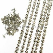 NEW SILVER UPHOLSTERY NAILS / TACKS / STUDS STRIPS FROM 10 METERS - 30 METERS