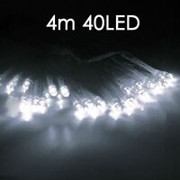40 LED 4M White Battery Operated Xmas Christmas Fairy Lights Decoration Party UK