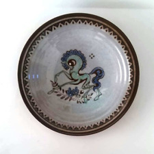 Amha Holland, Hand Thrown Pottery Dish, Dancing Horse, 1955