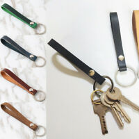 Wrist Strap Key Holder Leather Rope PU Keychain Keyring Key Chain Accessory