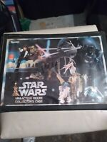 1977 Kenner Star Wars Mini-Action Figure Collector's Case W/13 figures used