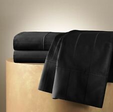 New JLO Jennifer Lopez Set Of 2 QUEEN Pillowcases Egyptian Cotton 600 In BLACK