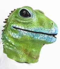 Deluxe Green Gecko Mask Lattice LIZARD ghecko Fancy Dress Costume Zoo Animale Pet