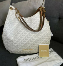 MICHAEL KORS MK Signature Lillie LG Chain Shoulder Tote Bag Vanilla 30T9G0LE3B