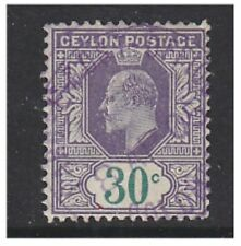 Pre-Decimal Edward VII (1902-1910) Ceylon Stamps