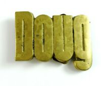 Doug Name Vintage Belt Buckle Solid Brass Baron Buckle 1978
