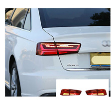 LED Tail Lights For Audi A6 2012-2016 Sequential Signal Red Replace OEM