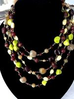 """Necklace Joan Rivers Neutral Chic Year of the Necklace 100 """" NWOT"""